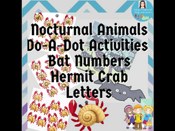 Do-A-Dot Activities Nocturnal Animals