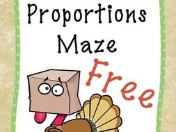 Free Download Thanksgiving Proportions Maze By Gottaluvitcreations