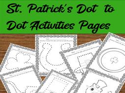 St. Patrick's Dot to Dot Activity Sheets