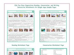 Imperatives Read-Converse-Write Interactive Worksheets for Google ...