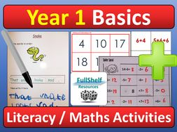 Literacy and Maths Activities Key Skills Year 1