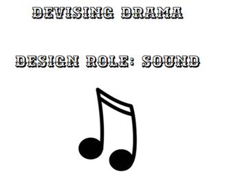 OCR Devising Drama - Sound Candidate