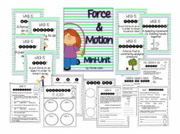froce motion mini unit anchor charts worksheets activities by michellemcdonald9515. Black Bedroom Furniture Sets. Home Design Ideas