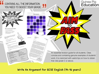 Write An Argument (GCSE English Writing Work Pack) (14-16 years)