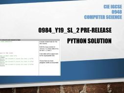 0984 pre release specimen solution in python