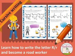 Learn how to write the letter r cursive style and become a road learn how to write the letter r cursive style and become a road worker expocarfo Gallery