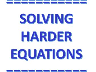 Solving Harder Equations