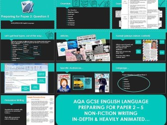 AQA 8700/2 English Language - Non-fiction Writing