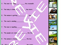 Preposition of Movement 3 Photo Worksheet Set