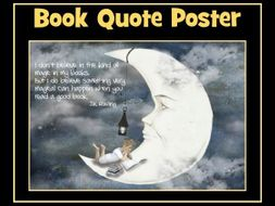 World Book Day - Book Quote Poster