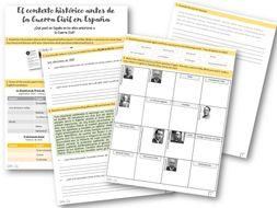 A level Spanish - la Guerra Civil (contexto)