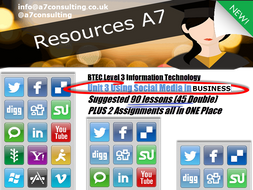 Level 3 IT Unit 3 Using Social Media in Business 90  suggested lesson (45 double)