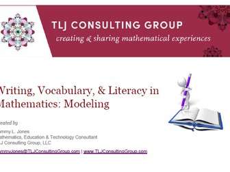 Writing, Vocabulary & Literacy in Mathematics: Modeling