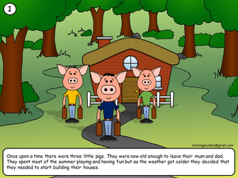 The Three Little Pigs Story - Editable - Traditional Tales