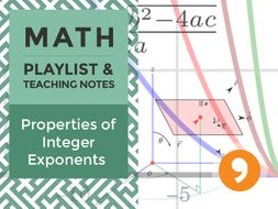 Properties of Integer Exponents - Playlist and Teaching Notes