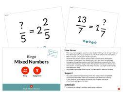 Mixed Numbers (Bingo)