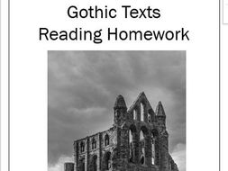 Gothic Extracts Reading Homework with Multiple Choice Questions - 7 Weeks