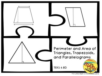 Perimeter and Area of Triangles, Trapezoids, and Parallelograms