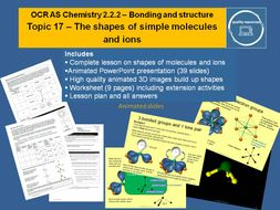 Shapes of molecules and ions - OCR AS Chemistry