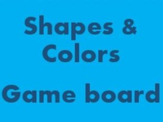 Colors and Shapes Game board for Smartboard