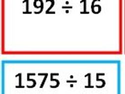 KS2 Year 5 Division of whole numbers with no remainders