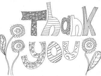 Thank You: Colouring Page