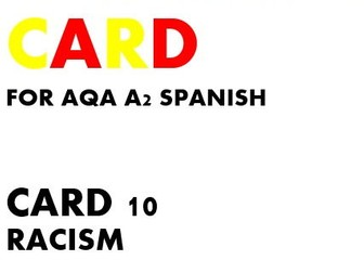 SPEAKING CARD 10 for AQA A2 SPANISH