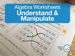 Algebra Worksheets: Collecting terms, expand and factorise, substitution.