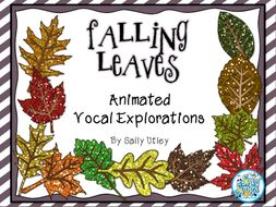 Falling Leaves Animated Vocal Explorations and Worksheets