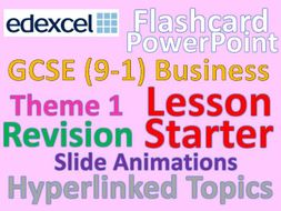 Edexcel Business 9-1 PowerPoint Flashcards - Starter or plenary