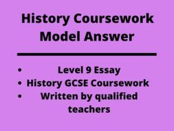 History GCSE Coursework Example: Level 9 Model Answer