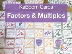 Factors and Multiples KaBoom Cards
