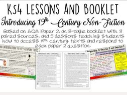 Introducing 19th Century Non-Fiction: Booklet AND Lessons (KS4)
