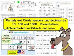 y y multiply  divide numbers  decimals by   and   y y multiply  divide numbers  decimals by   and   presentations worksheets  more by tes  teaching resources  tes