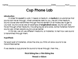 Cup Phone Sound Lab