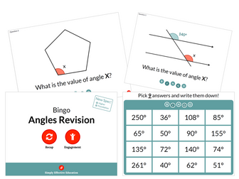 Angles Revision (Bingo)