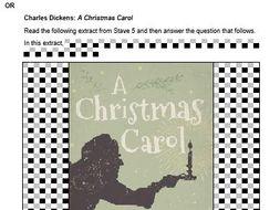 A Christmas Carol Mock Exam Questions - AQA - Stave 3 | Teaching Resources