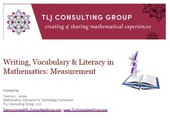 Writing, Vocabulary & Literacy in Mathematics: Measurement (Primary)