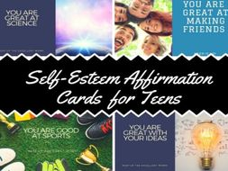 Self- Esteem Affirmation Cards For Teens