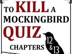 To Kill a Mockingbird Quiz - Chapters 12-13