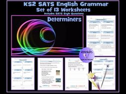 SATS English Grammar Revision: Determiners Worksheets