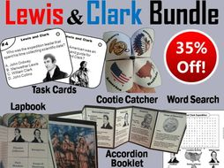 Lewis and Clark Task Cards and Activities Bundle