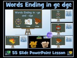 dge ge words (the /dʒ/ sound) PowerPoint Lesson