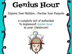 Genius Hour Activity Pack- Explore Your Passion- Pursue Your Purpose