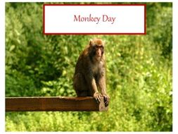 Monkey Day - PowerPoint and Display Materials + 31 Teaching Activities You Can Use These Photos For.