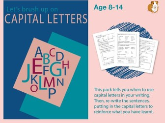 Brush Up On Capital Letters (Improve Your English Work Pack) 9-14 years