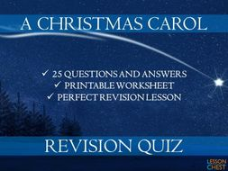 A Christmas Carol Quiz Questions And Answers.A Christmas Carol Quiz By Lessonchest Teaching Resources