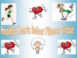Healthy Indoor PE Fitness Circuit