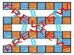 Future Simple Tense with Will Chutes and Ladders Board Game