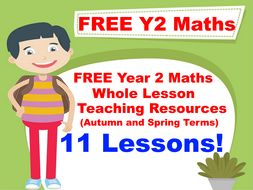 FREE Year 2 Maths PowerPoint Whole Lesson Resources (Autumn and Spring Terms)